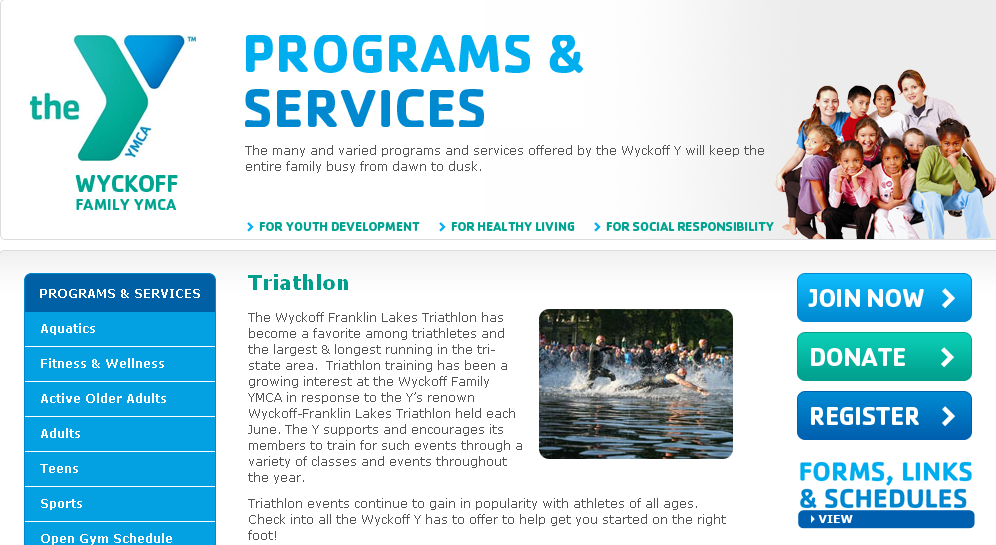 Triathlon - Wyckoff Family YMCA